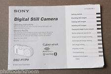 Sony DSC-P7 P9 Digital Camera Instruction Manual Book - English - USED