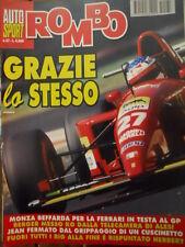 Auto & Sport ROMBO 37 1995 Monza beffarda per la Ferrari in testa al GP