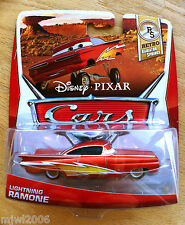 Disney PIXAR Cars LIGHTNING RAMONE 2013 RETRO RADIATOR SPRINGS CARD diecast 3/8