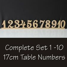 Wedding Table Numbers Set 170mm High Wood Cutout Timber RAW MDF Wooden Number