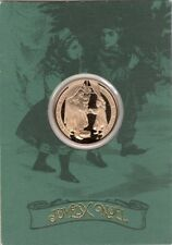 """1982 Franklin Mint """"Keeping An Eye On Santa"""" Holiday Bronze Coin"""