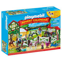 Playmobil Advent Calendar 'Horse Farm' with Flocked Horse - Full of Figurines