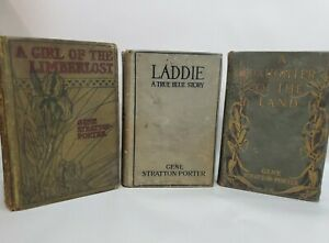 Gene Stratton-Porter Lot of 3 girl of the Limberlost Daughter of the Land Laddie