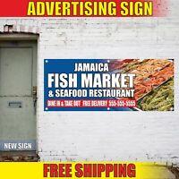 JAMAICA FISH MARKET SEAFOOD RESTAURANT Advertising Banner Vinyl Mesh Decal Sign