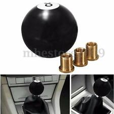 Universal Car Auto Black 8 Ball Gear Shift Shifter Knob W 8mm 10mm 12mm Adapter