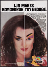 BOY GEORGE__Orig. 1984 Trade print AD / LJN toy doll promo_poster__ADVERTISEMENT