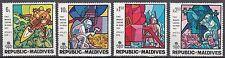 Malediven / Maledives Nr. 305-308** Erste bemannte Mondlandung / Apollo 11