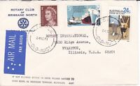 APH610) Australia 1971 small airmail Rotary advertising cover to USA
