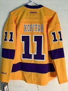 Reebok Women's Premier NHL Jersey Los Angeles Kings Anze Kopitar Yellow Alt sz M
