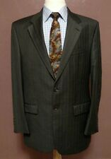 Lauren Ralph Lauren Men's Gray Pinstriped Wool Suit Jacket and Pants