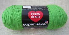 Red Heart Super Saver Yarn Spring Green Acrylic 7 oz