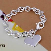 ASAMO Damen Armband mit Herz Anhänger 925 Sterling Silber plattiert A1278