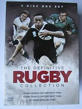THE DEFINITIVE RUGBY COLLECTION 3 DISC BOX SET, MARKS & SPENCER, NEW.