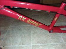 SE Racing PK Ripper Team XL Red Gold custom 2009 Frame Fork Bars