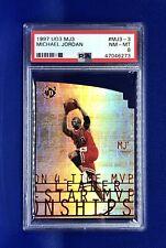 Michael Jordan 1997 UD3 MJ3 #MJ3-3 PSA 8 NM-MT RARE Chicago Bulls HOF