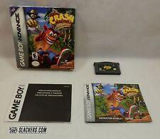 Crash Bandicoot Huge Adventure (Nintendo Game Boy Advance 2002) Complete! Gba