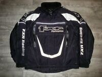 FXR Racing Snowmobile Sled Insulated Black Helix Race Men's Jacket Coat Large