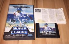 Sega Mega Drive Pal Game SUPER LEAGUE with Box Instructions