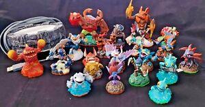 Lot of 19 Mixed Activision Skylander Figures & Portal of Power