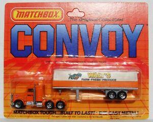 Matchbox Convoy Peterbilt Conventional Covered Truck Walt's Produce CY5 1983