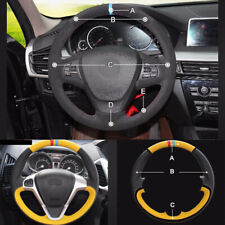 Custom made PU Leather Steering Wheel Cover Stitch on Wrap Fit For BMW X3 11-17