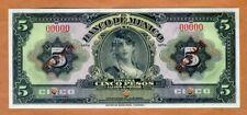 SPECIMEN, Mexico, 5 Pesos ND (1937-1950) P-34s, UNC