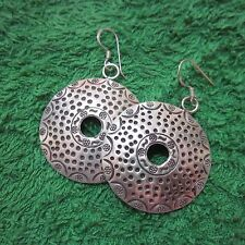 Hill Tribe Earrings Pure Silver Handcrafted Artisan Round Tribal Dots auc