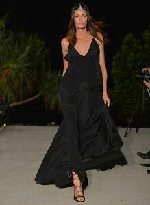 MICHAEL LO SORDO Silk Crepe Maxi Dress Gown