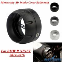 Black Motorcycle High Flow Air Intake Cover Bellmouth For BMW R Nine T R9T 14-16