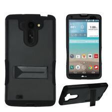 For LG G Vista,G Pro 2 Lite VS880 Hybrid Tough Armor Kickstand Case Black