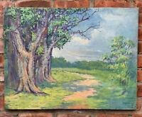 Spectacular C1920 Pennsylvania Impressionist O/C Painting Attr: William Lathrop