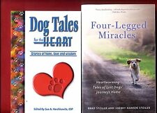 2 dog books: Dog Tales for the Heart & Four-Legged Miracles - Free Shipping!