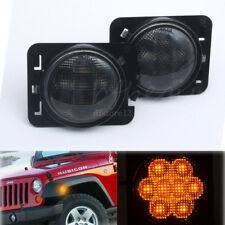 Paire 12V Amber LED Auto Clignotants Latéraux Lampe Light 5W Pr Jeep Wrangler JK