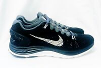 AS NEW NIKE LUNARGLIDE 5 WOMENS BLACK RUNNING TRAINING SHOES 39 OR 8 US