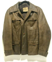 Victoria Leather Jacket Canada Sopranos Jacket Mens Size 42 Retro Distressed