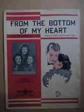 From the Bottom of my Heart, Parker Sisters, sheet music, Aust. press