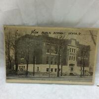 Vintage 1911 Postcard Genoa Ohio Public School