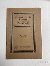 Flemish giant rabbits for pleasure and profit 1930