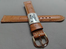 ZRC France Honey Ostrich Calf 16mm Watch Band Pointed Gold Tone Buckle $17.95