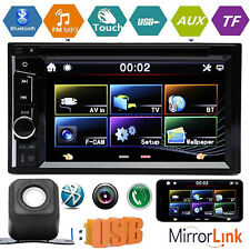 6.2'' 2-DIN Touch Screen Bluetooth Car Stereo DVD CD MP3 Player AM FM Radio Cam