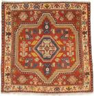 Tribal Handmade Farmhouse Square 2X2 Square Vintage Oriental Rug Bathroom Carpet