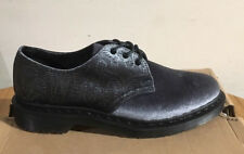 DR. MARTENS 1461 BROCADE GREY VELVET + EMBOSSED VELVET  SHOES SIZE UK 9