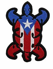 PUERTO RICO TURTLE FLAG Embroidered Flag Patch-0127