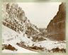 Algérie, Gorges du Chabet Vintage albumen print.  Tirage albuminé  21x27