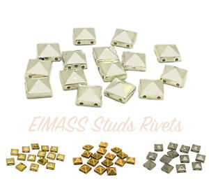 EIMASS® Acrylic Pyramid Studs, Beads, Sew or Glue on Flat Back Beads for Craft