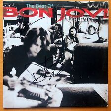 "BON JOVI ""CROSS ROADS"" PERSONALLY SIGNED LP BY 2 WITH COA"