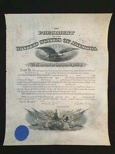 US President Woodrow Wilson Signed Commission Document Military Appointment WWI