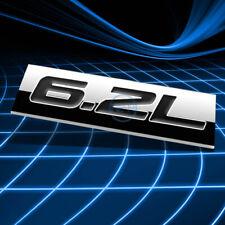 METAL 3D EMBLEM DECAL LOGO TRIM BADGE STICKER POLISHED CHROME BLACK 6.2L 6.2 L