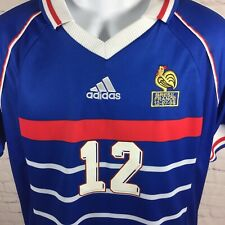 Adidas France World Cup Henry 12 Shirt Jersey FFF National Team Blue Size Small