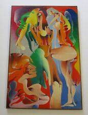 KNIGHT 1960'S MODERNISM PAINTING ABSTRACT EXPRESSIONISM SURREAL SPACE ESKIMO